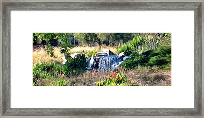 Out Of Bounds On The 18th Framed Print by Barbara Snyder