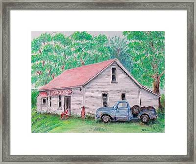 Framed Print featuring the painting Out Of Business by Susan DeLain