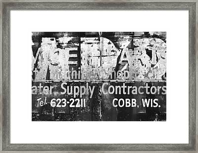 Out Of Business Framed Print by Todd Klassy