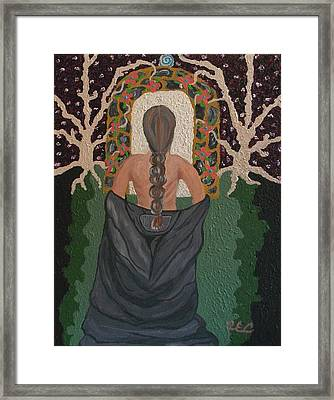 Out Of Darkness Framed Print by Carolyn Cable