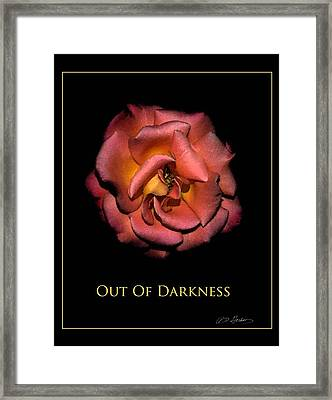 Out Of Darkness Framed Print by Richard Gordon