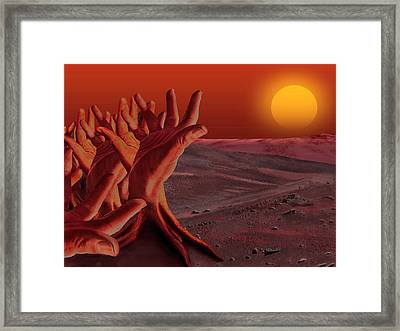 Out Of Hand Framed Print