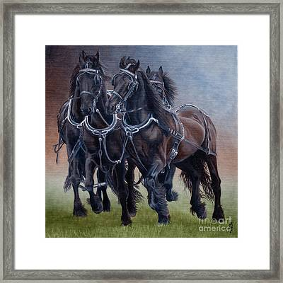 Out Of Kilter Framed Print by Pauline Sharp