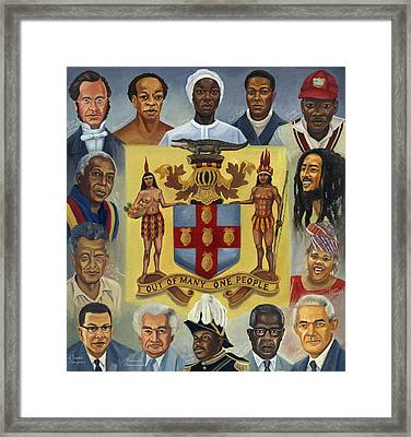 Out Of Many One People Framed Print by Kavion Robinson