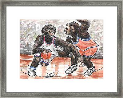 Out Of My Way Framed Print by George I Perez