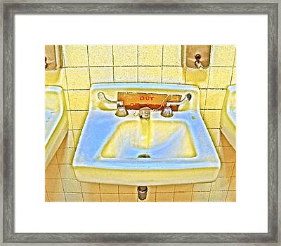 Out Of Order Framed Print by Frank Winters