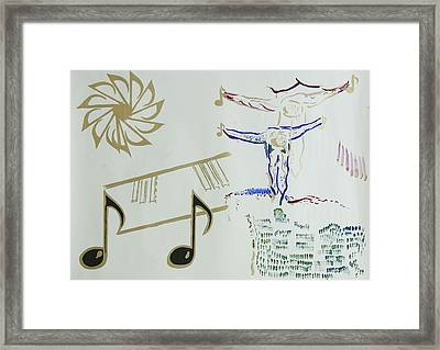 Out Of Skin Play Framed Print by Contemporary Michael Angelo
