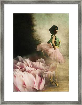 Out Of Starlit Dimness Framed Print by Rebecca Sherman