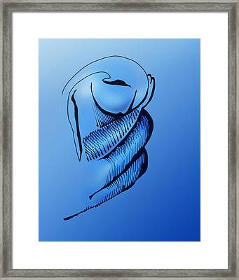 Framed Print featuring the drawing Out Of The Blue Aventurine by Keith A Link