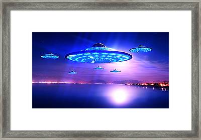 Out Of The Blue By Raphael Terra Framed Print by Raphael Terra