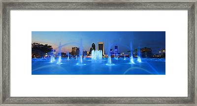 Out Of The Blue Framed Print by Lori Deiter