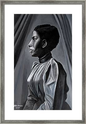 Out Of The Box Woman In Shirtdress Framed Print by Joyce Owens