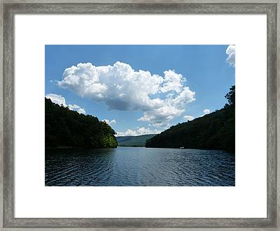 Out Of The Cove Framed Print by Donald C Morgan
