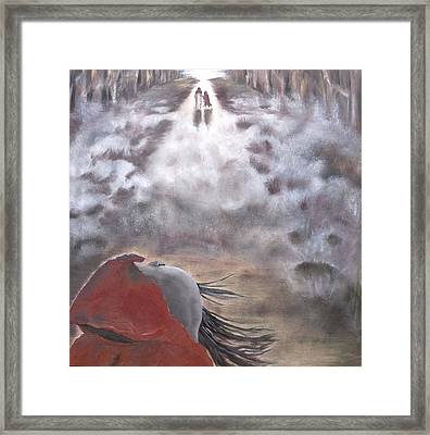 Framed Print featuring the painting Out Of The Dark And Into The Light by Diane Daigle