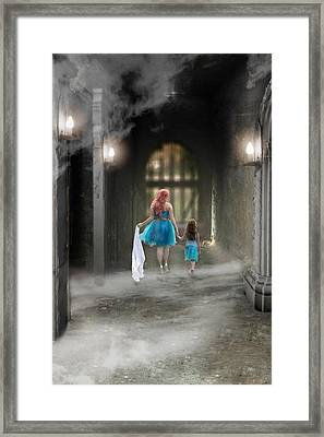 Out Of The Darkness Framed Print by Brenda Giasson