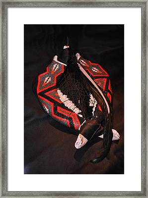 Out Of The Fire Framed Print by Judy Wood