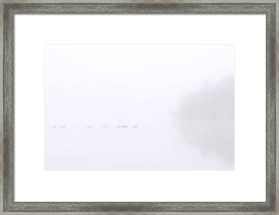 Out Of The Fog Framed Print by Mike  Dawson