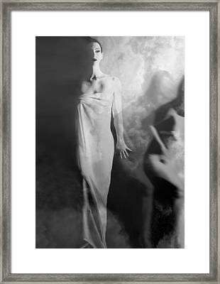 Out Of The Fog - Self Portrait Framed Print