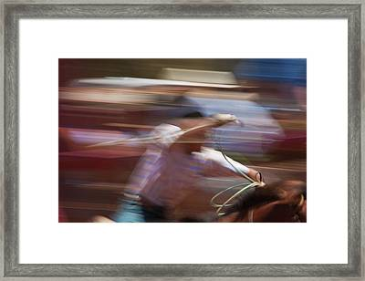 Framed Print featuring the photograph Out Of The Gate by Roger Mullenhour