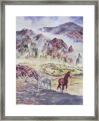 Out Of The Mist Framed Print by Barbara Widmann