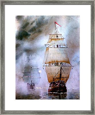 Out Of The Mist Framed Print by Steven Ponsford