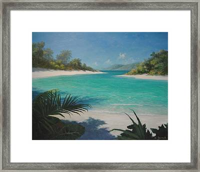 Out Of The Shadow Framed Print