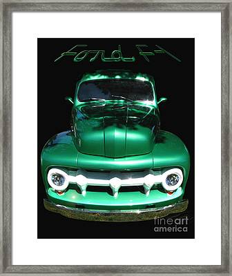 Out Of The Shadows - 51 F100 Ford  Framed Print