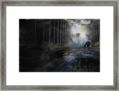 Framed Print featuring the photograph Out Of The Storm by Gray  Artus