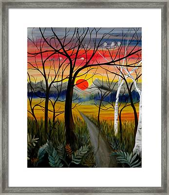 Framed Print featuring the painting Out Of The Woods by Renate Nadi Wesley