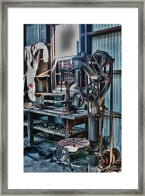 Out Of Work Framed Print by Sandra Bronstein