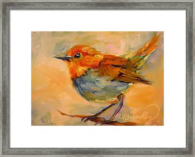 Framed Print featuring the painting Out On A Limb by Chris Brandley