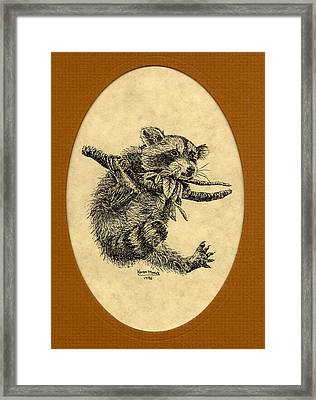 Framed Print featuring the drawing Out On A Limb by Karen Musick
