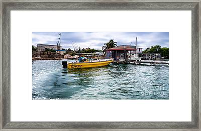 Out On Bail Framed Print