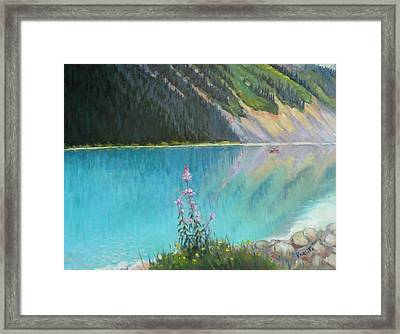 Out On Lake Louise Framed Print
