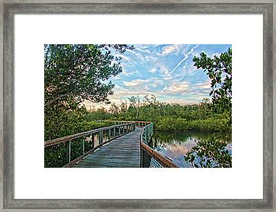 Out On The Boardwalk Framed Print by HH Photography of Florida