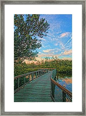 Out On The Boardwalk - Vertical Framed Print by HH Photography of Florida