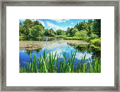 Out On The Boats Framed Print