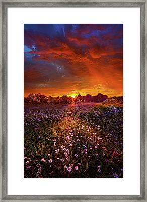 Out On The Edge Of Day Framed Print by Phil Koch