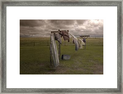 Out On The Line Framed Print