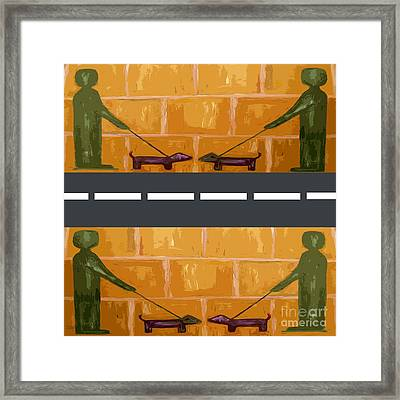 Out On The Street Framed Print by Patrick J Murphy