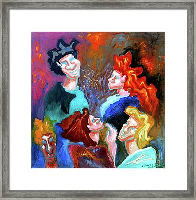 Framed Print featuring the painting Out On The Town by Genevieve Esson