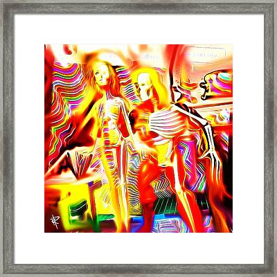 Out On The Town Framed Print