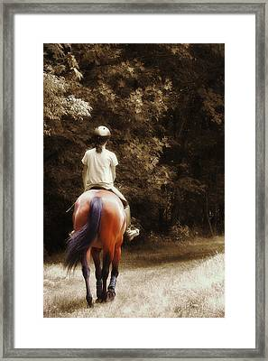 Out On The Trail Framed Print by JAMART Photography