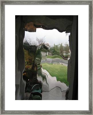 Out The Window Framed Print by Eileen Shahbazian