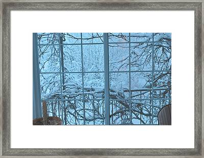 Out The Window Framed Print by Peter Williams