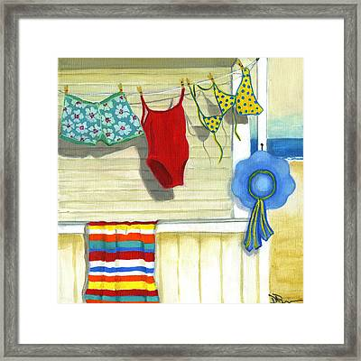 Out To Dry Framed Print by Debbie Brown