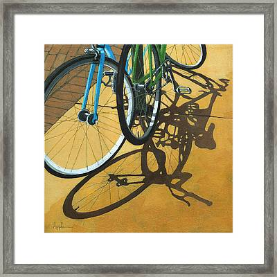 Out To Lunch Framed Print by Linda Apple
