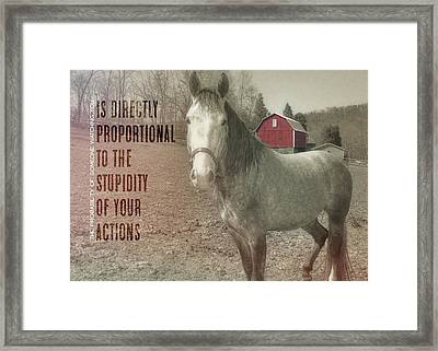 Out To Pasture Quote Framed Print by JAMART Photography