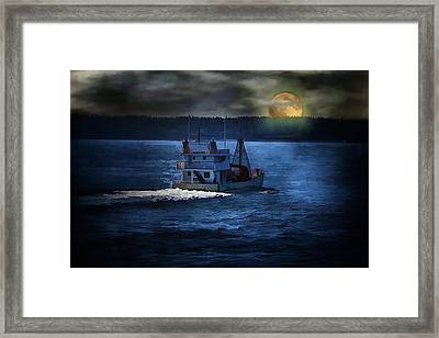 Framed Print featuring the photograph Out To Sea by Gary Smith