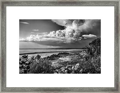 Framed Print featuring the photograph Out To Sea by Howard Salmon